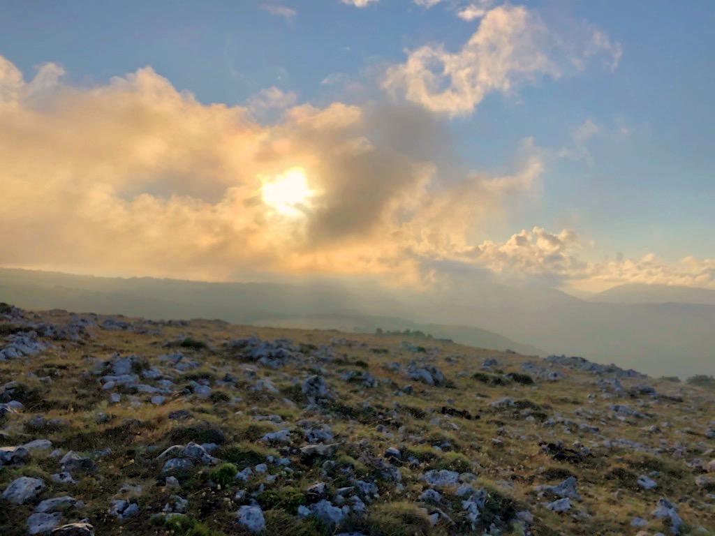 Paesaggio dal Monte Calvello
