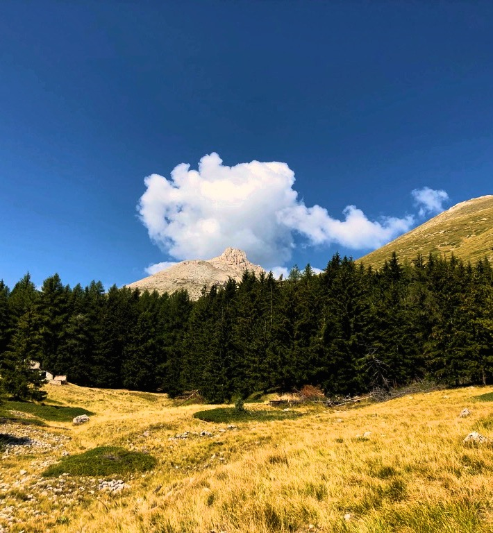 Il Monte Camicia alla fine del percorso