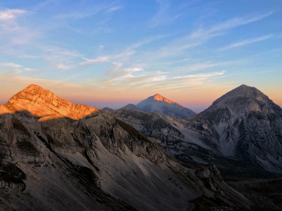 Le tre montagne: Pizzo Cefalone, Monte Corvo, Pizzo D'Intermesoli