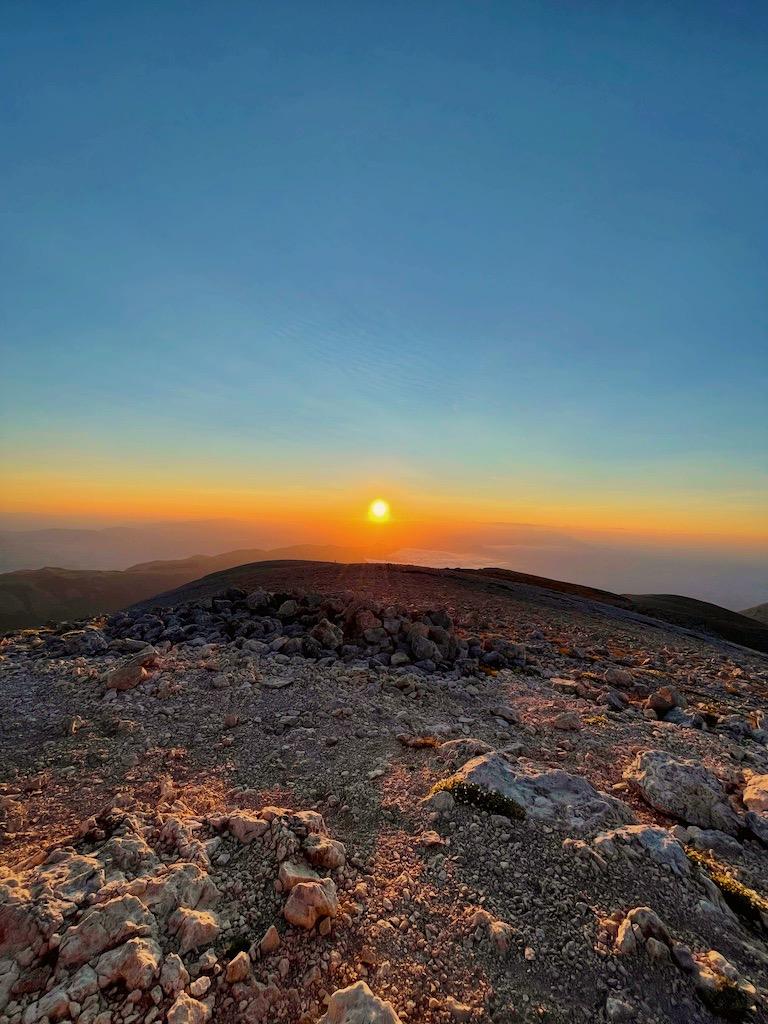 Tramonto dal Monte Amaro